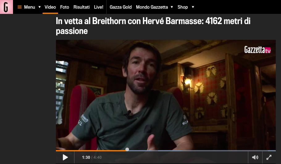 Hervé Barmasse Breithorn