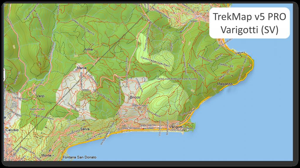 Mappa Italia X Garmin.Trekmap V5 Pro Non Solo Escursionismo E Mtb Garmin