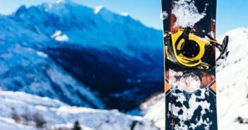 Con lo snowboard sul Monte Pizzul, insieme a Cesare Pisoni e alla Garmin VIRB 360