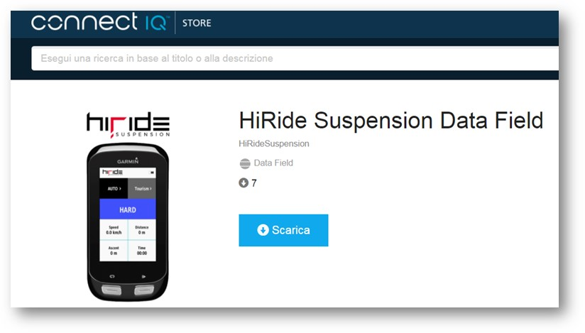 HiRide Suspension Data Field 1