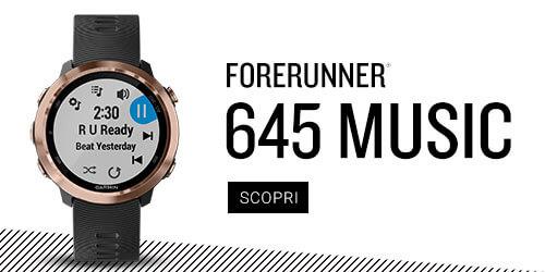 Forerunner 645 smartwatch con musica