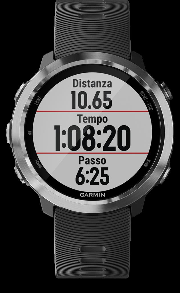 orologio running campi dati