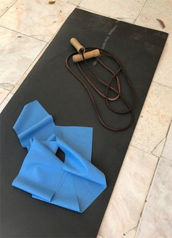 materiale per allenamento a casa
