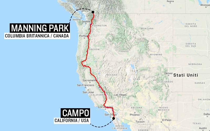 mappa pacific crest trail