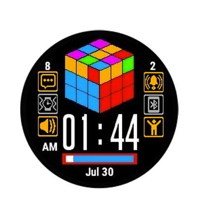 quadrante digitale garmin cubo di rubik