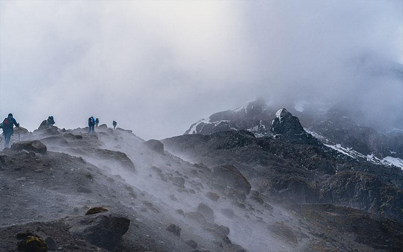 nebbia in montagna pericolosa