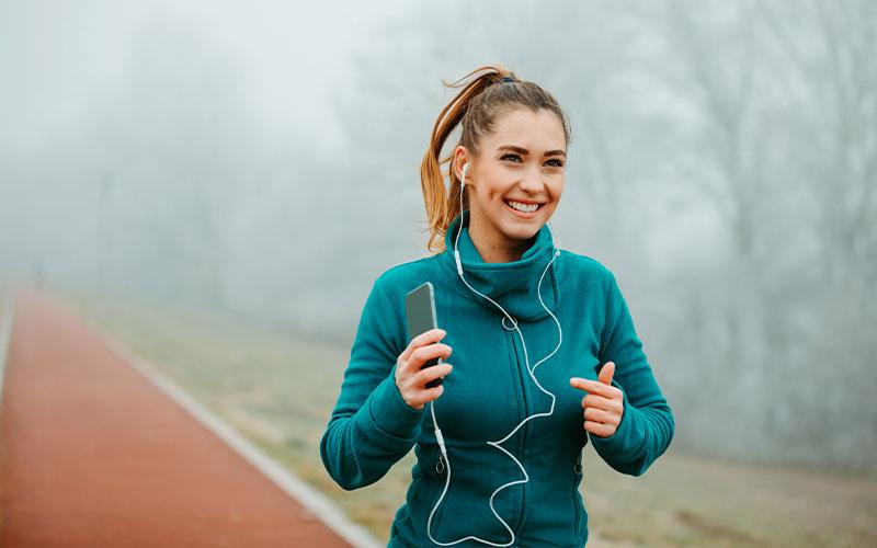 correre con lo smartphone