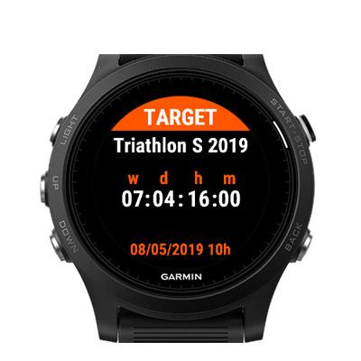 countdown widget smartwatch garmin