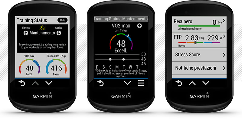 metriche ciclismo garmin edge 830